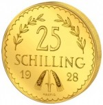 25 Schilling Goldmünze Revers 1. Republik e1327434229212 Schilling Goldmünzen