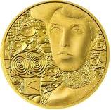 50 Euro Goldmünze Bildseite Adele Bloch Bauer I 50 Euro Goldmünze   Gustav Klimt Adele Bloch Bauer I
