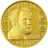50 Euro Goldmünze Wertseite Gustav Klimt 50 Euro Goldmünze   Gustav Klimt Adele Bloch Bauer I