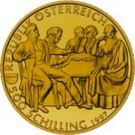 500 Schilling Goldmünze Franz Schubert Wertseite e1327435136656 Schilling Goldmünzen