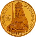 500 Schilling Goldmünze Heinrich II. Jasomirgott Bildseite e1327435044711 Schilling Goldmünzen