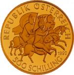 500 Schilling Goldmünze Heinrich II. Jasomirgott Wertseite e1327435057514 Schilling Goldmünzen