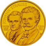 500 Schilling Goldmünze Johann Strauß Vater und Sohn Bildseite e1327435571590 Schilling Goldmünzen