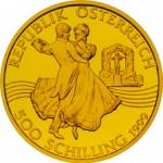 500 Schilling Goldmünze Johann Strauß Vater und Sohn Wertseite e1327435584642 Schilling Goldmünzen