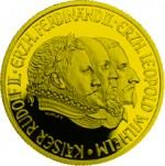 500 Schilling Goldmünze Rudolf II. Bildseite e1327434912741 Schilling Goldmünzen