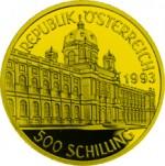 500 Schilling Goldmünze Rudolf II. Wertseite e1327434926510 Schilling Goldmünzen