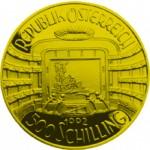 500 Schilling Goldmünze Staatsoper Wertseite e1327434776761 Schilling Goldmünzen