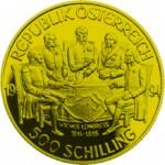 500 Schilling Goldmünze Wiener Kongress Wertseite e1327434955510 Schilling Goldmünzen