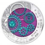 25 Euro Niob Die Zeit Bildseite e1457374075936 Österreichische Bimetallmünzen