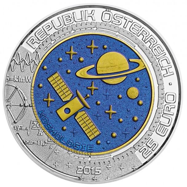 25 Euro Niob Kosmologie Wertseite 608x608 25 Euro Silber Niob Bimetallmünze – Kosmologie