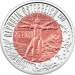 25 Euro Niob Robotik Wertseite e1330588426992 Österreichische Bimetallmünzen