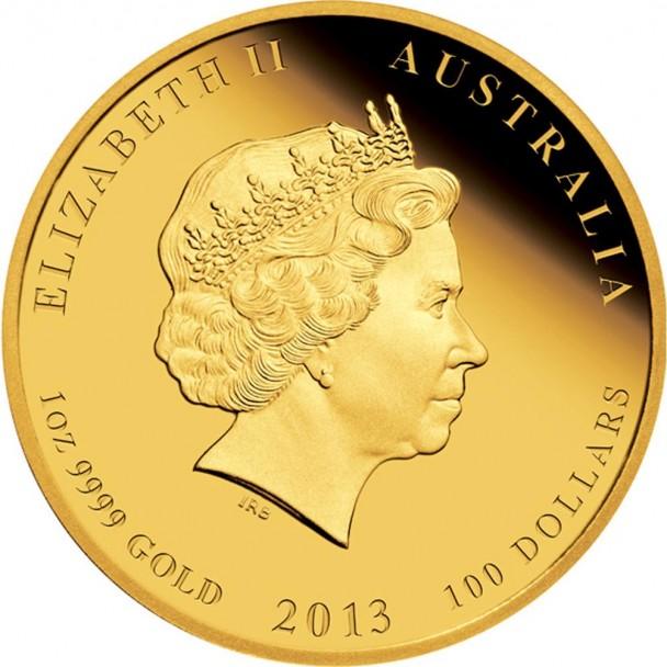 0 2013 Year of the Snake Gold Proof 1oz Coin Obverse 608x608 Australischer Lunar  – Das Jahr der Schlange 2013