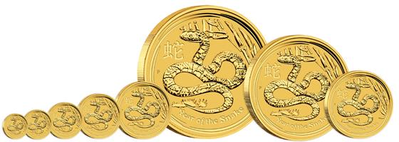 2013 Australian Lunar Gold Coin Series II Australischer Lunar  – Das Jahr der Schlange 2013