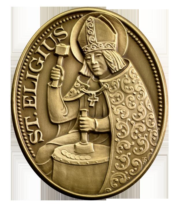 Der Heilige Eligius Vorderseite Der Heilige Eligius   Schutzpatron der Numismatiker