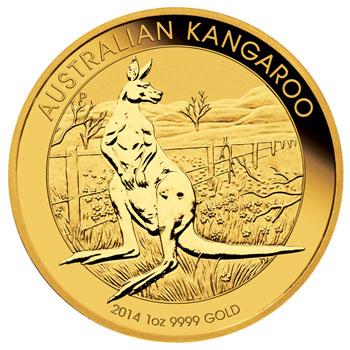 Australian Kangaroo Goldmünze Bildseite Australian Kangaroo