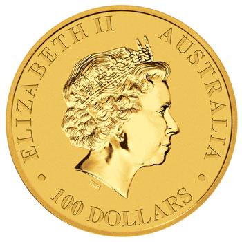 Australian Kangaroo Goldmünze Wertseite Australian Kangaroo