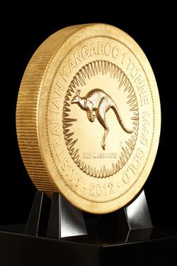 Australian Kangaroo Goldmünze Größte Goldmünze der Welt auf Europatournee