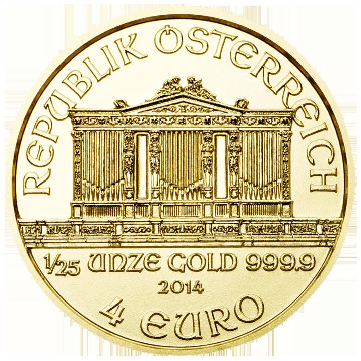 Wiener Philharmoniker Goldmünze Wertseite 1 25 Unze 25 Jahre Wiener Philharmoniker Goldmünzen