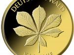 20 Euro Goldmünze Deutscher Wald Kastanie 2014 Bildseite