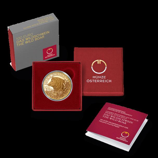 100 Euro Goldmünze Das Wildschwein 608x608 100 Euro Goldmünze Das Wildschwein