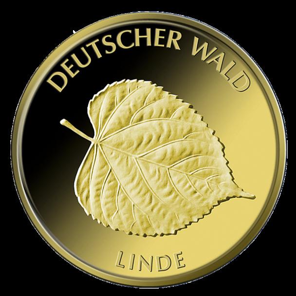 20 Euro Goldmünze Deutscher Wald Linde 2015 Bildseite 608x608 20 Euro Goldmünze Deutscher Wald Linde