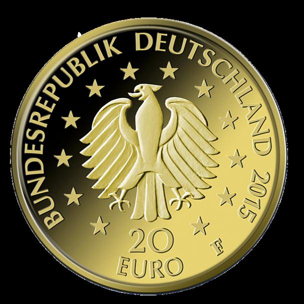 20 Euro Goldmünze Deutscher Wald Linde Wertseite 608x608 20 Euro Goldmünze Deutscher Wald Linde