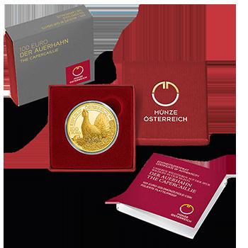 100 Euro Goldmünze Der Auerhahn 100 Euro Goldmünze Der Auerhahn