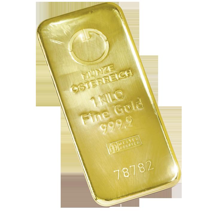 Goldbarren 1000 g Gussbarren Goldinvestment gegen rasant steigende Inflation