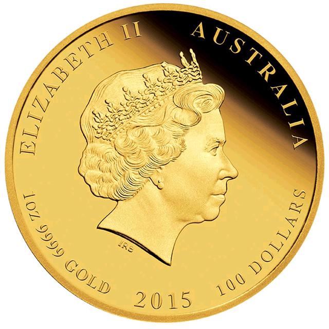 Gold Australischer Lunar 2015 Wertseite Australischer Lunar – Das Jahr der Ziege 2015