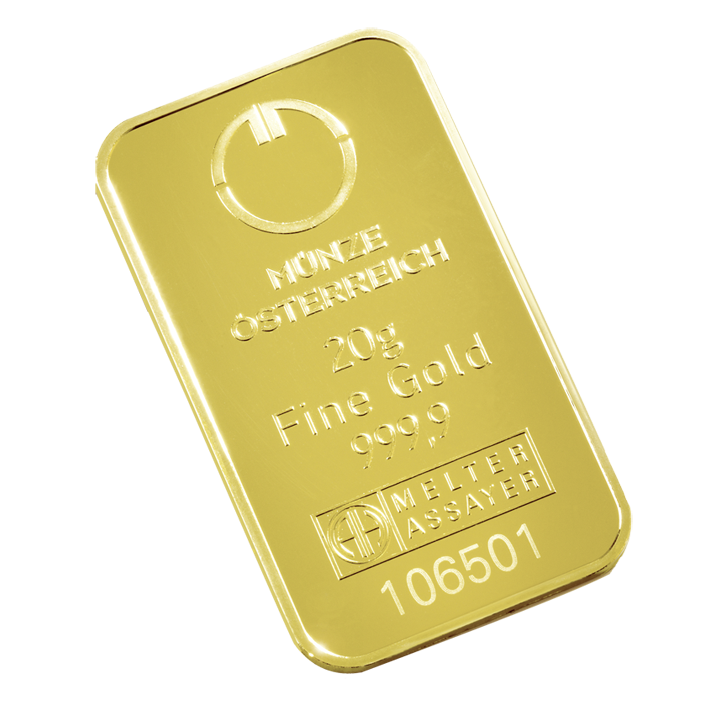 Goldbarren 20 g Münze Österreich AG Jetzt clever physisches Gold kaufen
