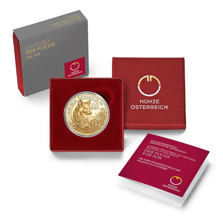 100 Euro Goldmünze Der Rotfuchs 100 Euro Goldmünze Der Fuchs